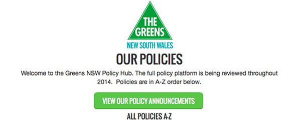View All Greens Policies