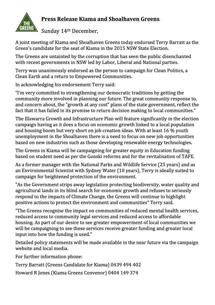 Press-Release-Kiama-and-Shoalhaven-Greens